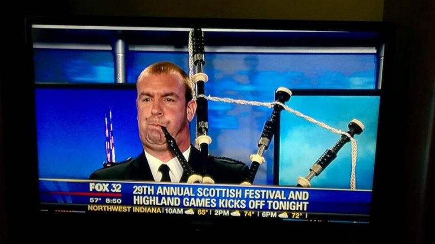 Chicago Bagpiper News Spot